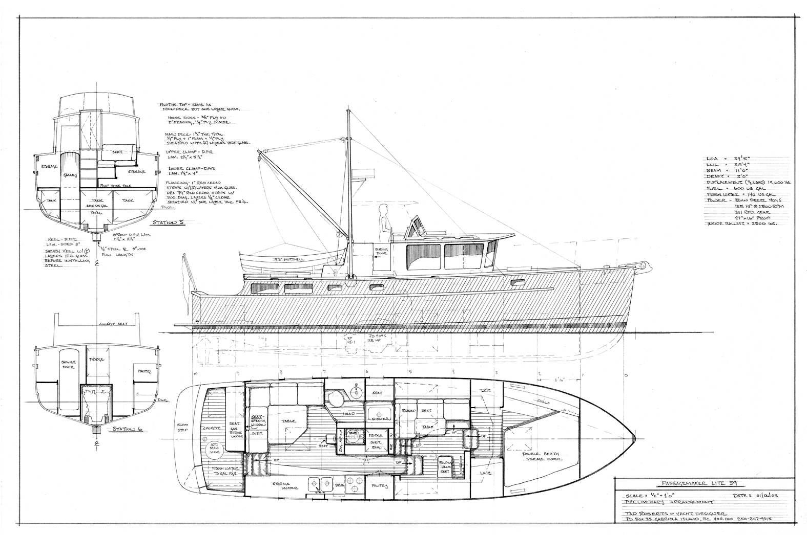 Art Line Yacht Design : Passagemaker lite tad roberts fast seaworthy fuel